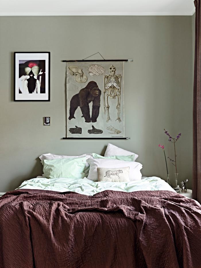 saliegroene slaapkamer