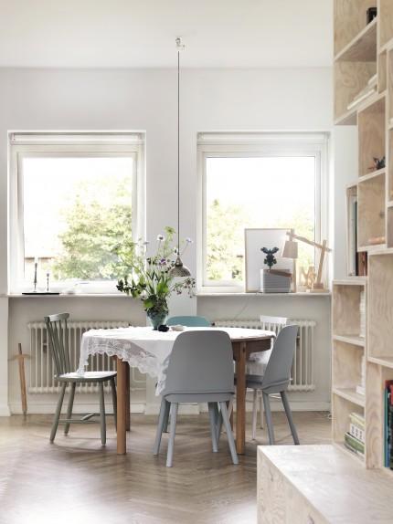 hemma hos petra bindel kök matplats bord spetsduk inspiration