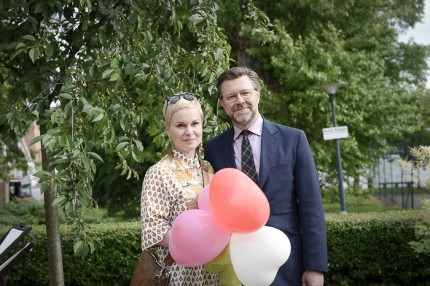 Södrateaterns CEO Ingmari Pagenkemper & Mats Frödin.