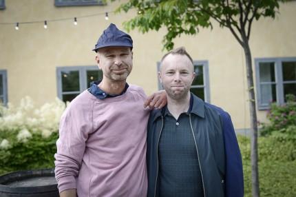 H&Ms internationella presschef Håcan Andersson och Anders Olsson.