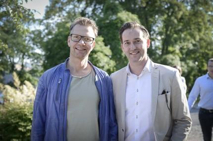 Stefan Sidén & Livsstilsjournalisten Stephen Whitlock från b.la. Conde Nast Traveller.
