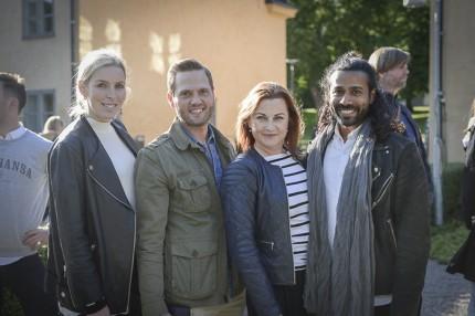 Stylisten Niklas Berglind med vänner.