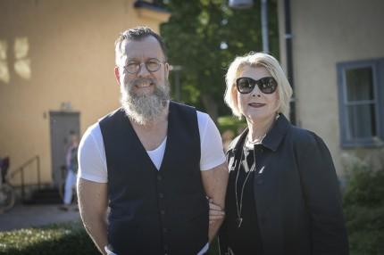 Håkan Lindo med Agneta Villman, VD och ägare av Maxim Teatern.