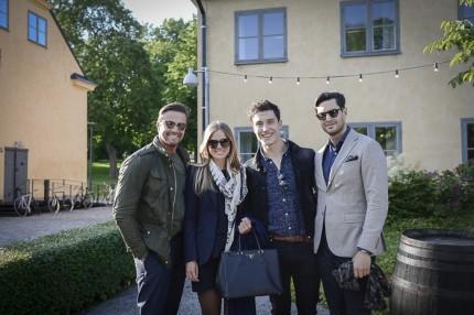 Agenten Johan Pråmell, Amelie Westfeldt, Rasmus Brelid och marknadsdirektören på Eklund Sthlm NY, Sebastian Magnani.