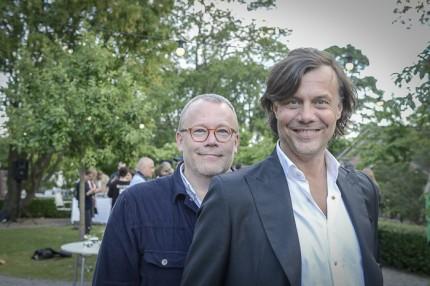 Hotel Skeppsholmens VD Joachim Olausson med WildHorsesProductions Jonas Andersson.