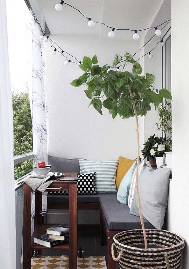 utemöbler för liten balkong