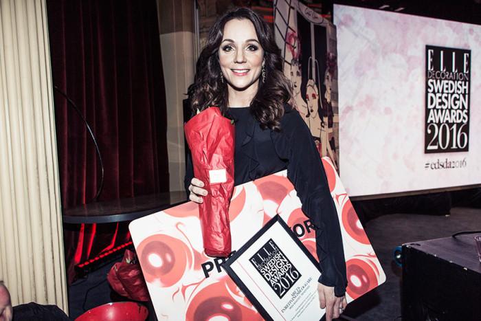 Frida Ramstedt på ELLE Decoration Design Awards 2016. Foto: Studio Emma Svensson