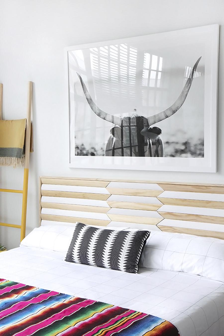 Så gör du din egen sänggavel u2013 bloggarnas bästa tips ELLE Decoration