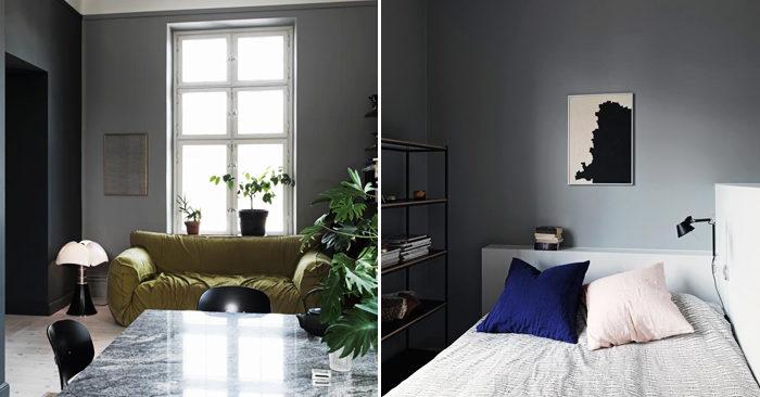 gråa väggar