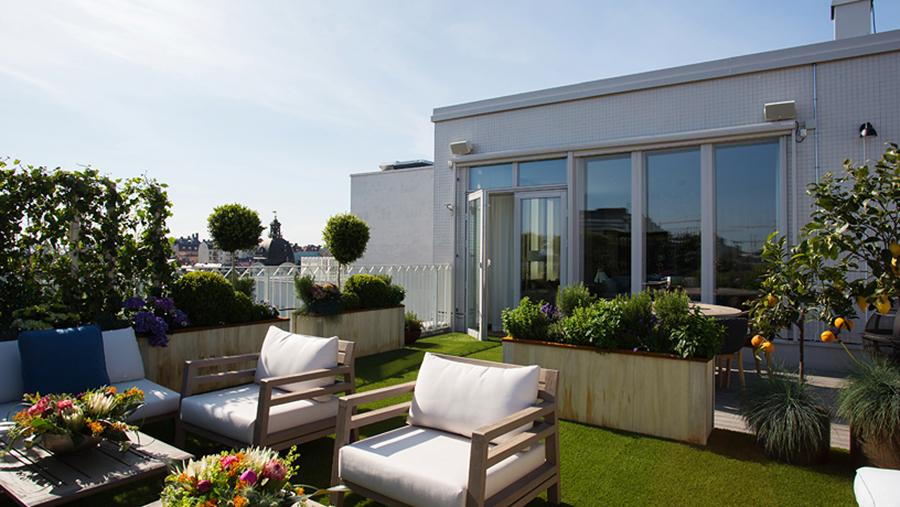 Unikt penthouse i arkitektritat hus till salu u2013 och kolla in takterassen ELLE Decoration
