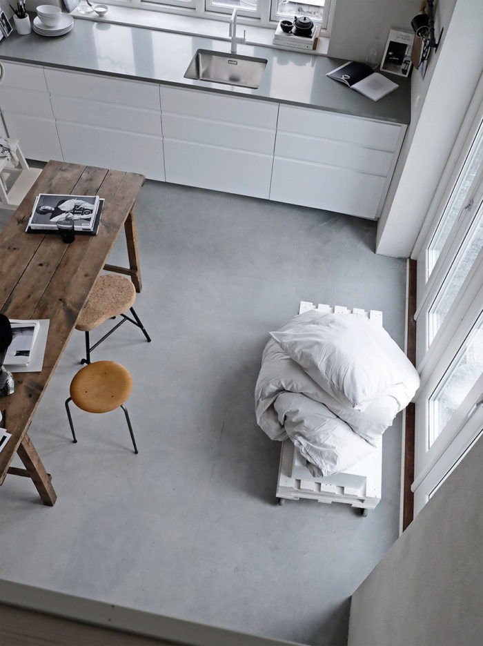 STIL_INSPIRATION_Attefallshuset_kitchen_Concrete_Floor