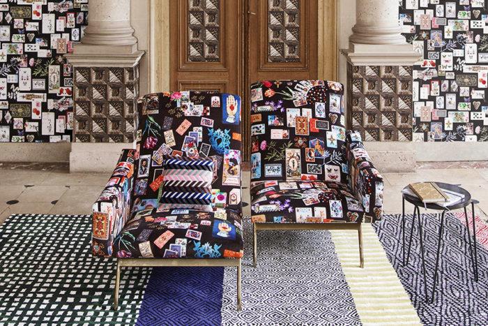 Möbeltyg Maison De Jeu - Reglisse, Christian Lacroix för Designers Guild.