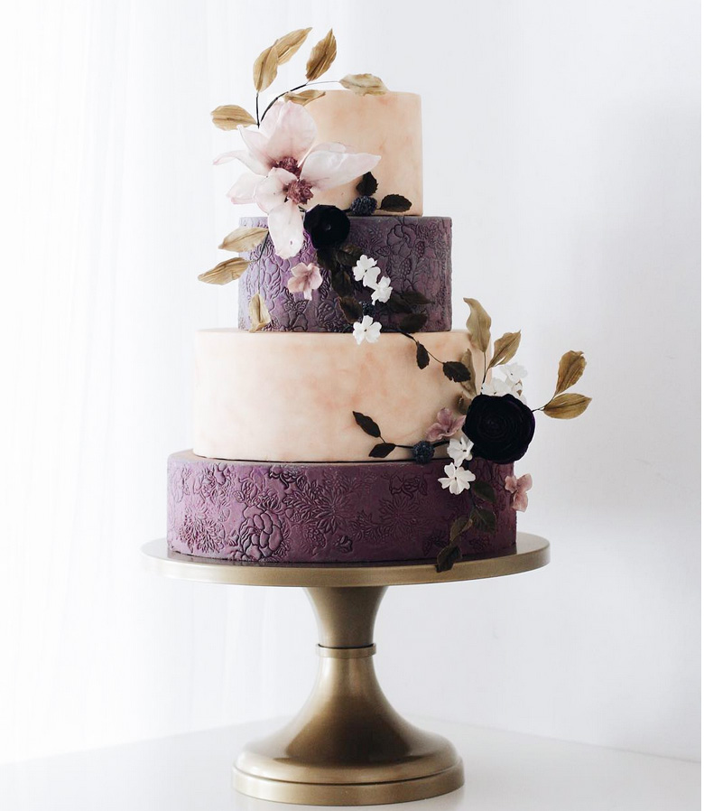 stunning purple wedding cake designs perfect wedding day
