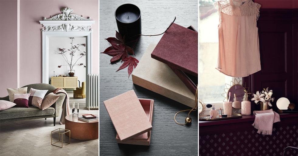 rosa toner och vinr da nyanser h r r de finaste h stnyheterna p h m home elle decoration. Black Bedroom Furniture Sets. Home Design Ideas