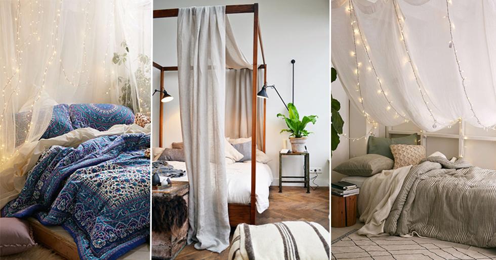 DIY Skapa en drömmig sänghimmel u2013 5 fina tips ELLE Decoration