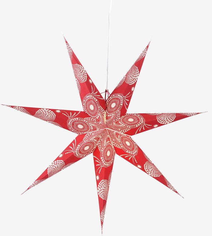 röd snygg julstjärna trendig