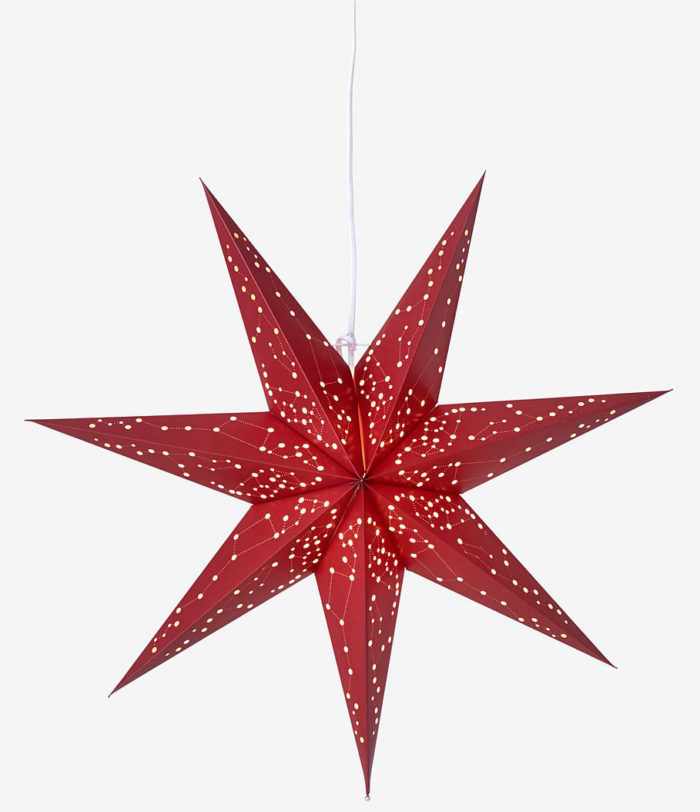 röd julstjärna mönstrad ellos home