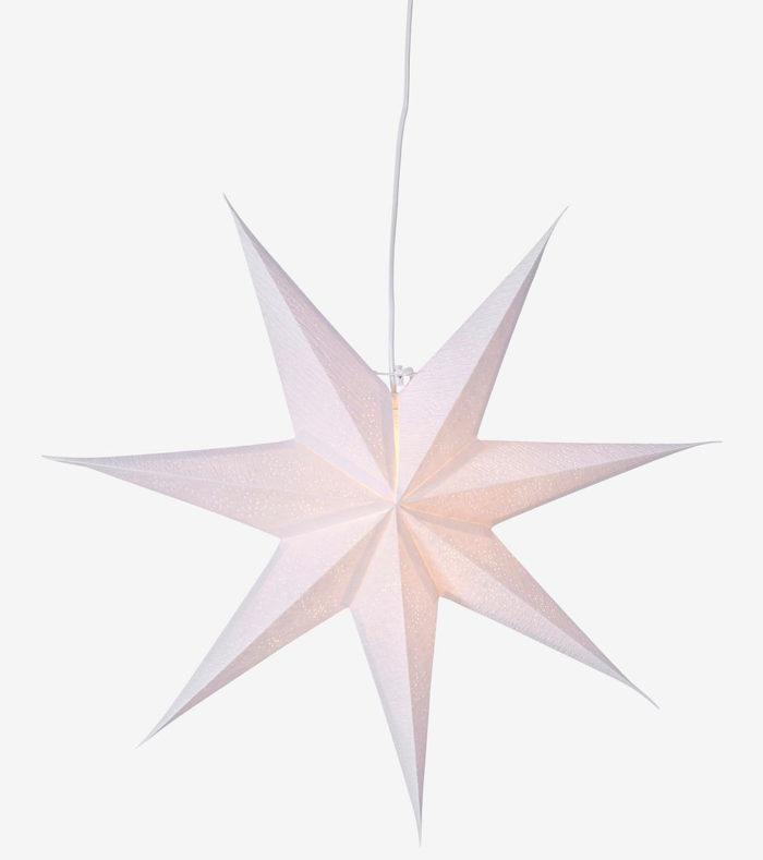 vit julstjärna papper fönster