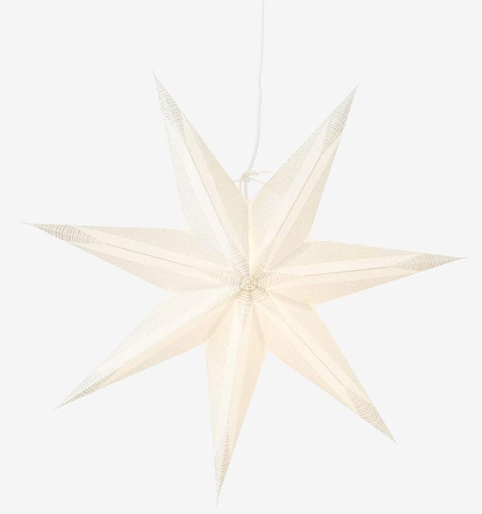 vit julstjärna fönster mönstrad