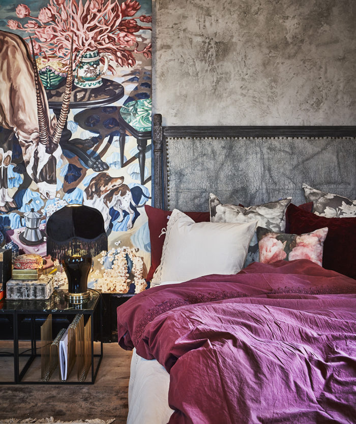 Sovrum med rosa sängkläder. Jotex vår och sommar 2018.