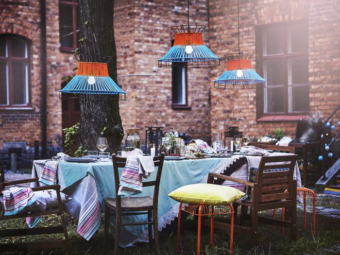 Lampor för utomhusbruk, dukning utomhus. Ikeas sommarnyheter 2018.