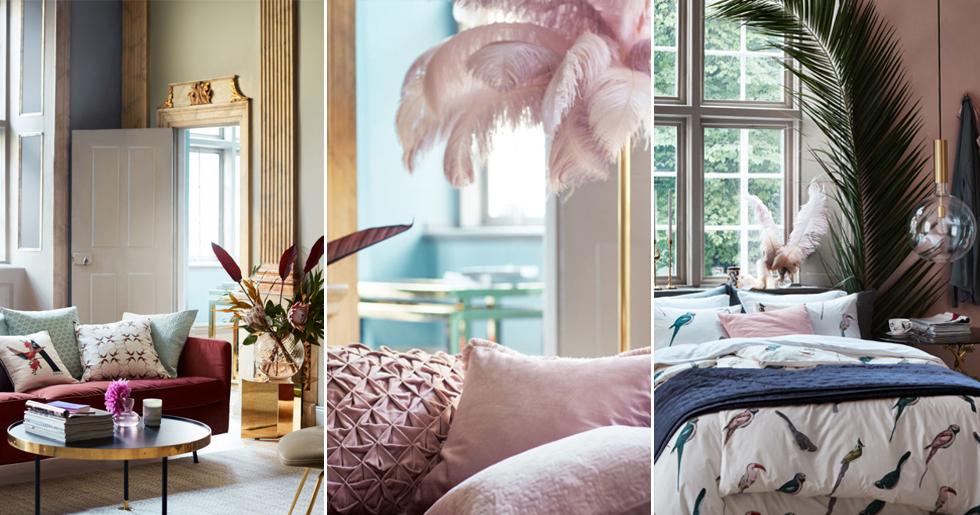 nya bilder fr n h m homes v ren 2018 elle decoration. Black Bedroom Furniture Sets. Home Design Ideas