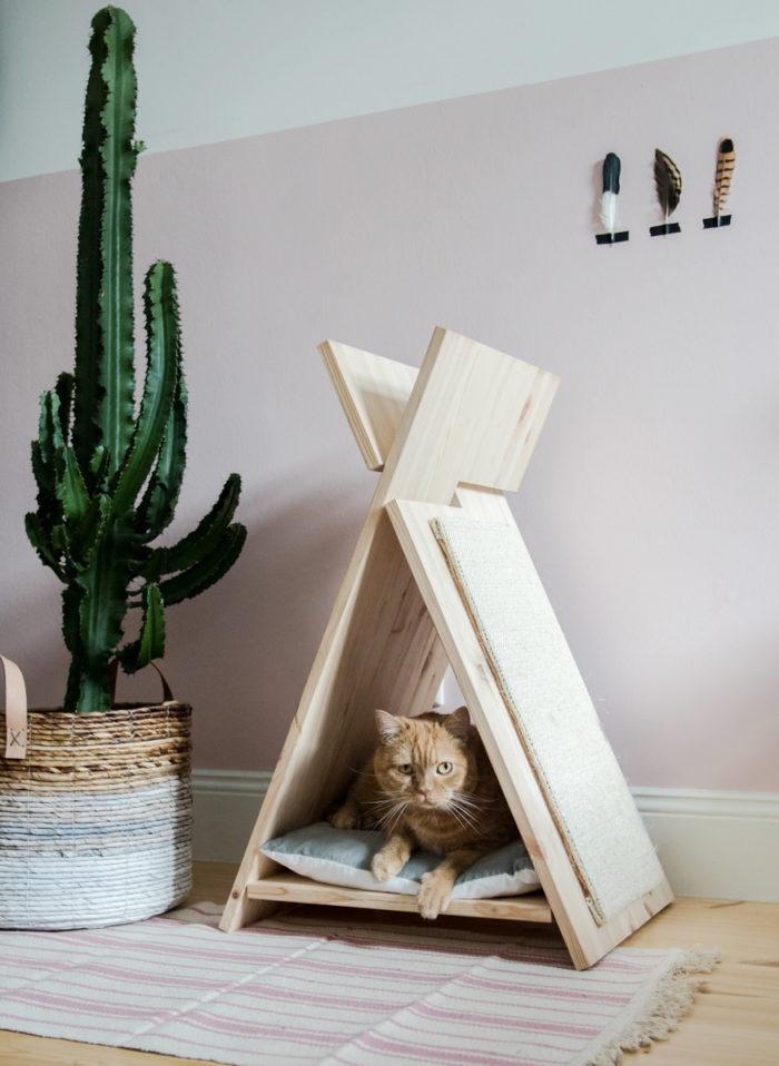 DIY hus för katt och hund, klösbräda