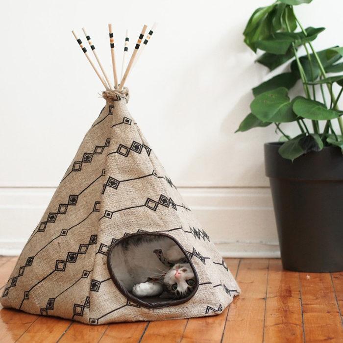 DIY tipi-tält hund katt