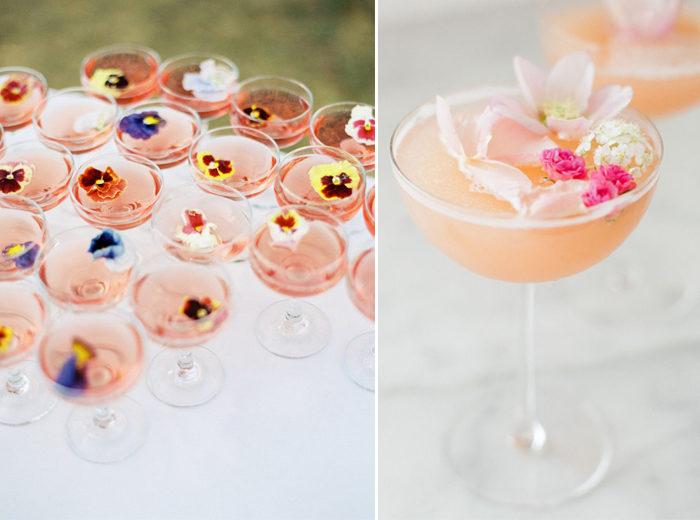 Dekorera drinkarna med ätbara blommor