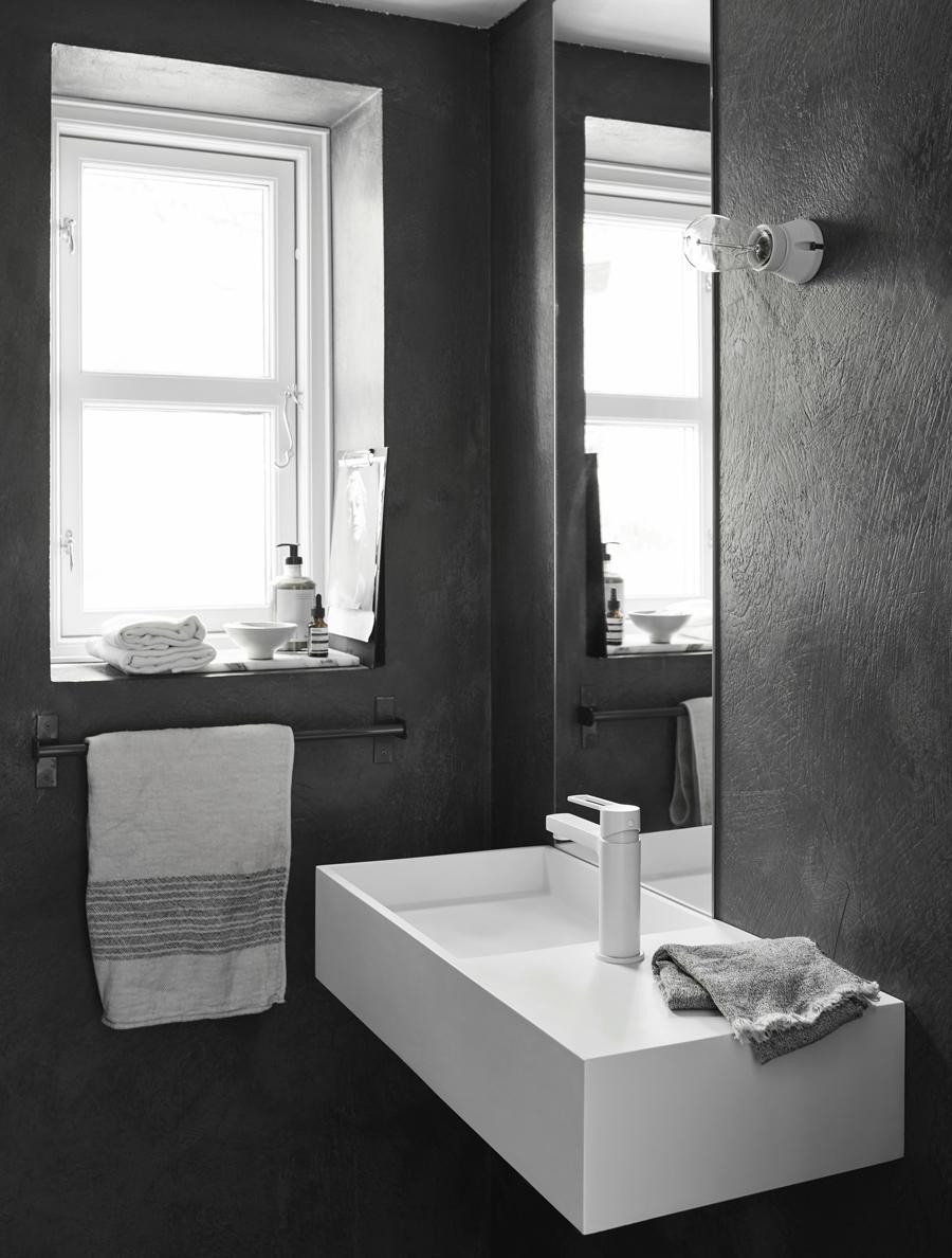Badrummet i Pella Hedebys Attefallshus