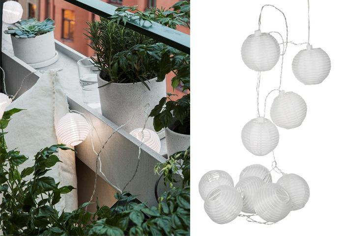 Sätt guldkant på balkongen och gör den lyxig – med ljusslingor