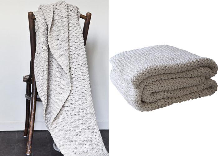 11 snygga presenttips till Mors dag - knitted filt