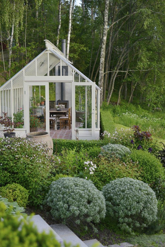 Växthus på Victoria Skoglunds tomt