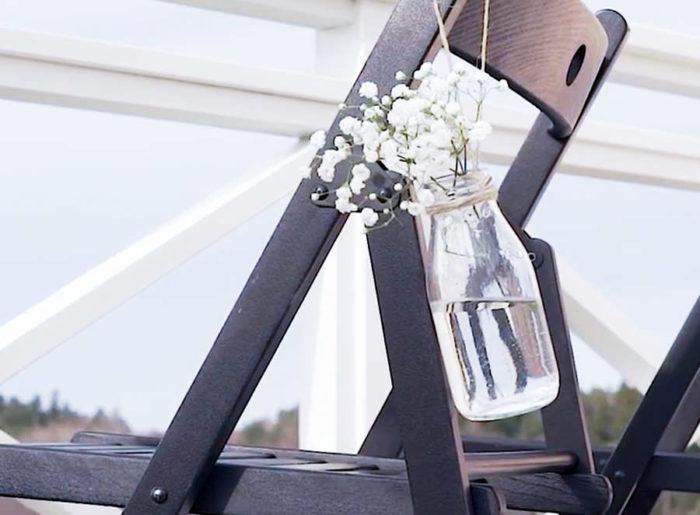 Bröllopsdekorationer med brudslöja DIY