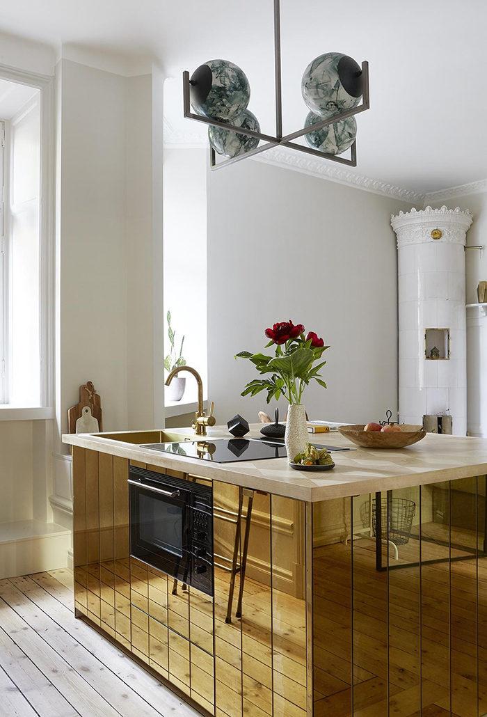 Välj exklusiva material i den lilla lägenheten