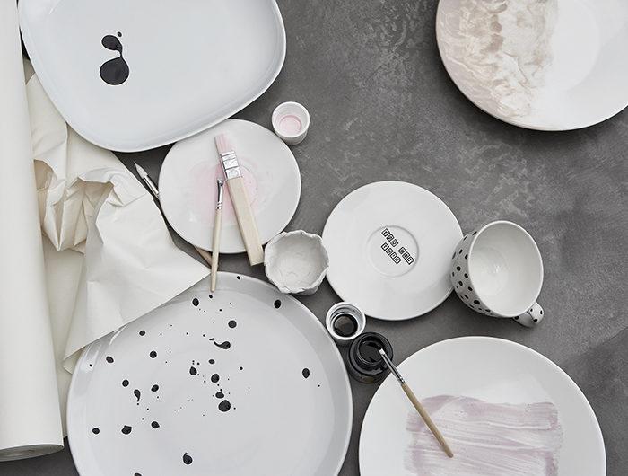 Ikea hack – måla porslin med stänk