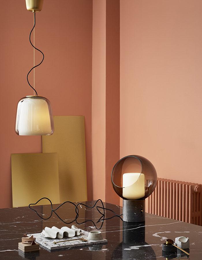 Ikeas höstnyheter – taklampa och bordslampa