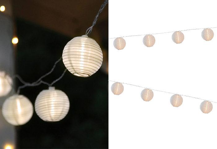Ljusslinga med rispappersbollar
