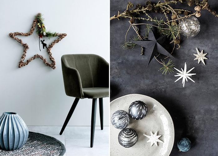 stjärnor är trendigt i inredningen hos våra danska favoriter i jul
