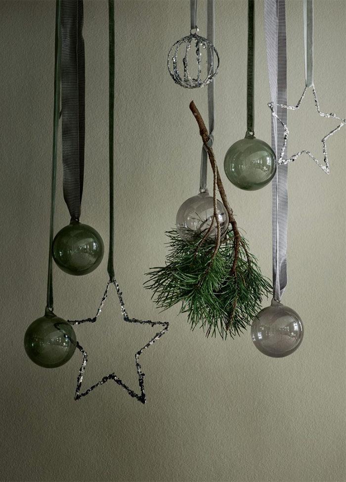 Julgransdekorationer i tonat glas från Tine K Home