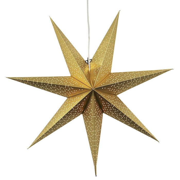 julstjärna i guld från star trading