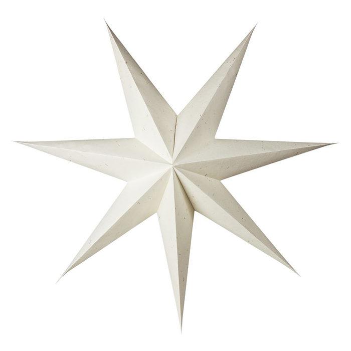 naturvit stor julstjärna från granit