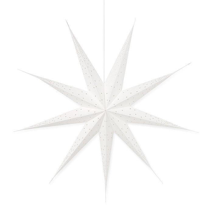 stor vit julstjärna som mäter 90 centimeter från åhlens