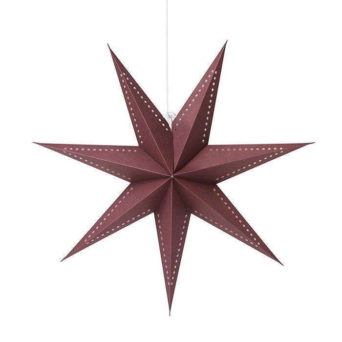 vinröd adventsstjärna från åhléns
