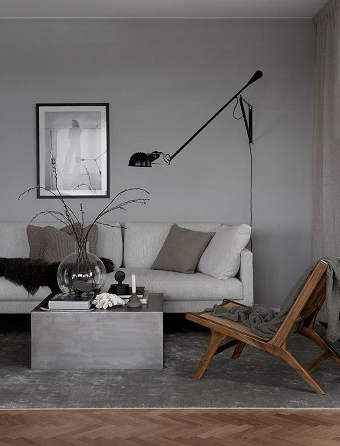 Gör det minimalistiska hemmet mysigt med olika texturer