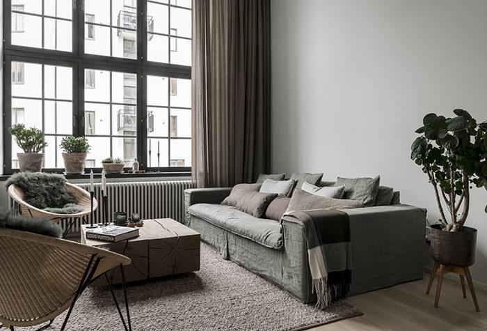 mysig minimalism i toner av brunt och grått