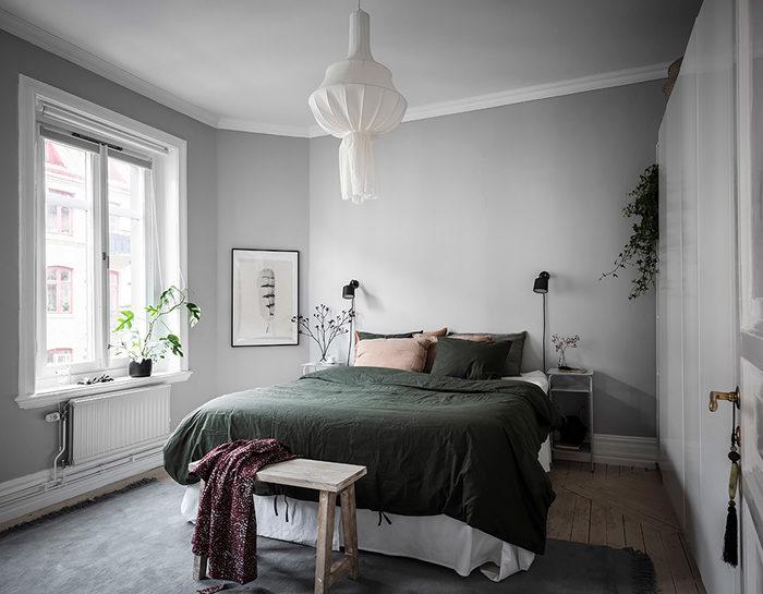 Gröna växter gör det minimalistiska hemmet mysigare på ett kick