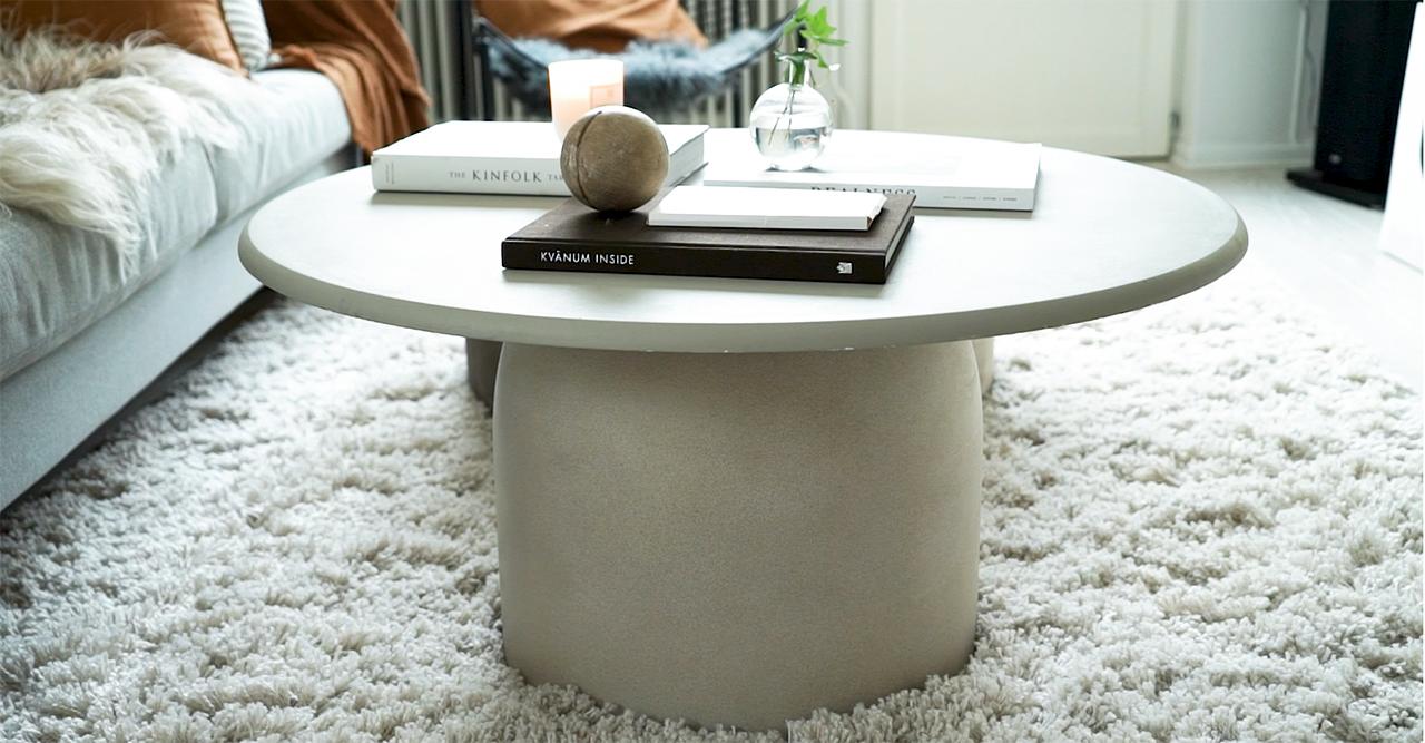 DIY Stilrent bord av en betongkruka ELLE Decoration