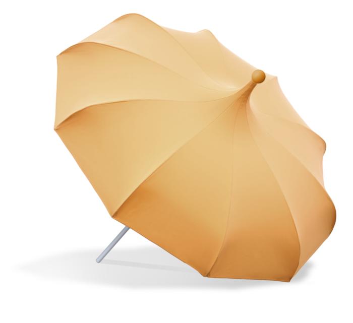 Bonito paraguas amarillo de Mirlo