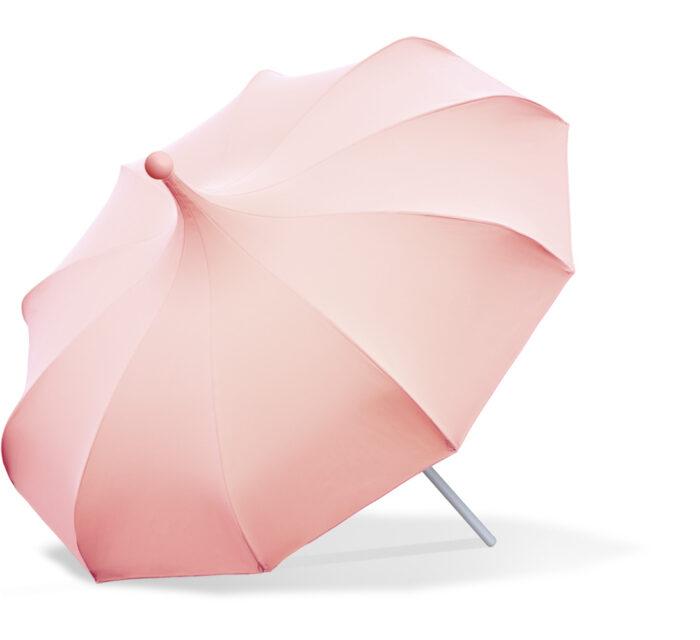 Paraguas rosa de Mirlo